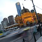 Flinders Street station in peak hour by Xavier Russo