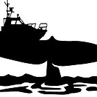 Fishing boat on whale tale by SofiaYoushi