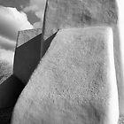 Rear Buttress, San Francisco de Asis Church, Ranchos d Taos, in Monochrome by Mitchell Tillison