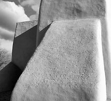 Rear Buttress, San Francisco de Asis Church, Ranchos d Taos, in Monochrome by Mitchell Tillison