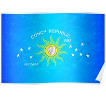 The Conch Republic Flag Poster