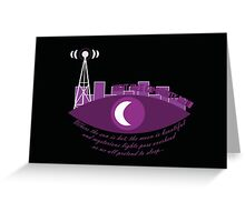Night Vale Community Radio Greeting Card