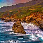 Big Sur Sunset by photosbyflood