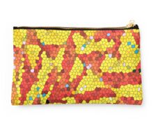 Yellow and red abstract Studio Pouch