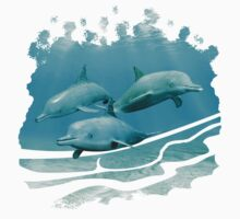 Swimming Dolphins Kids Tee