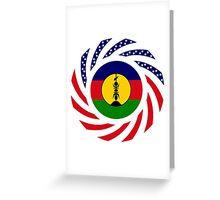 New Caledonian American Multinational Patriot Flag Series Greeting Card