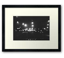 Monochrome Drive Framed Print