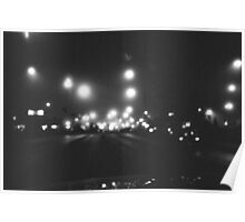 Bokeh in Black and White Poster