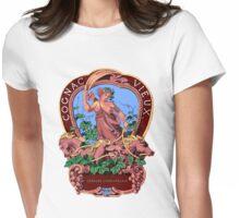 Goddess of Spirits Vintage Label Art Womens Fitted T-Shirt