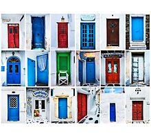 Doors of Greece Photographic Print