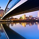 Sunrise in Salford Quays in Manchester, England by Yen Baet