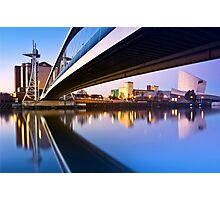 Sunrise in Salford Quays in Manchester, England Photographic Print