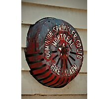 Old Fire Sprinkler Photographic Print