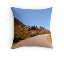 Colourful road through the hills Throw Pillow