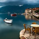 Early Morning by the Bay of Kotor in Perast, Montenegro by Yen Baet
