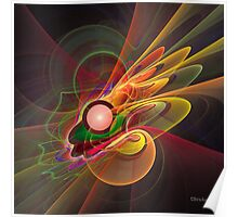 'Light Flame Abstract 206' Poster