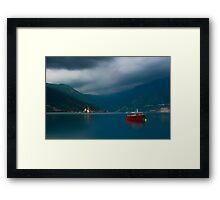 Peaceful Scene at the Bay of Kotor in Perast, Montenegro Framed Print