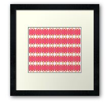 pink/yellow face Framed Print