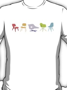 Ray & Charles Eames Chairs Classic Design T-Shirt