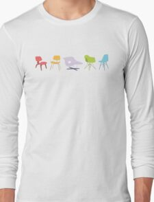 Ray & Charles Eames Chairs Classic Design Long Sleeve T-Shirt