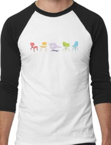 Ray & Charles Eames Chairs Classic Design Men's Baseball ¾ T-Shirt