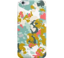 Rumor - Abstract painting, design pink mustard blue painterly design iPhone Case/Skin