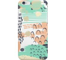 Liesel - Abstract, painterly, mark-making artist, colors cell phone case design iPhone Case/Skin