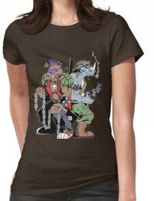 Rocksteady & Bebop Womens Fitted T-Shirt