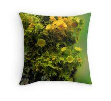 Alien Lichen Landscape Throw Pillow