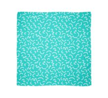 Hockney - Bright blue, memphis, 80s, 90s, swimming pool, summer turquoise design cell phone, phone  Scarf