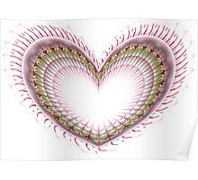 Pink Love Heart Poster