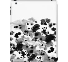 Mona - Black and White Painted Spots, painterly, abstract, monochrome cell phone case iPad Case/Skin