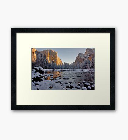 Yosemite Valley Winter 2009 Framed Print