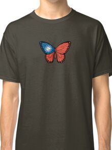 Taiwanese Flag Butterfly Classic T-Shirt