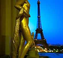 Gilded Statues of Palais de Chaillot - Paris, France by Yen Baet