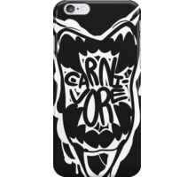 CARNI-VORE (white) iPhone Case/Skin