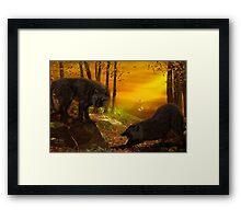 Wolf Forest Framed Print