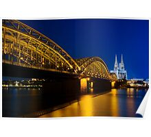 Cologne Cathedral on the Rhine - Germany Poster
