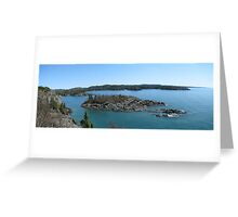 Campbells point into Lake Superior - Pukaskwa National Park Greeting Card