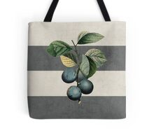 botanical stripes - plums Tote Bag