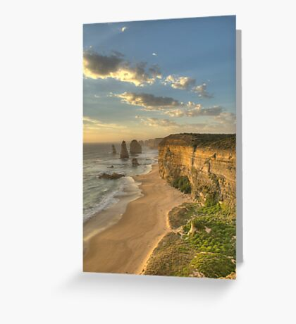 12 Apostles Sunset Portrait Orientation Greeting Card