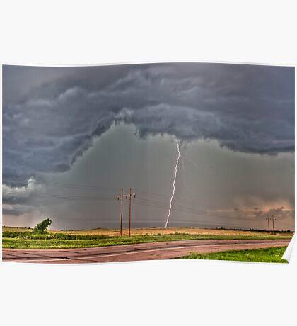 This season's First Daytime CG Lightning Stirke!  Poster