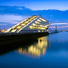 Dockland on the Elbe River - Hamburg, Germany by Yen Baet