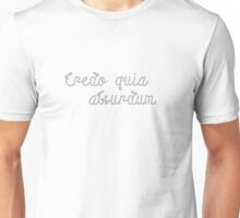 Latin Sayings Geek Cool Smart Clever  Unisex T-Shirt