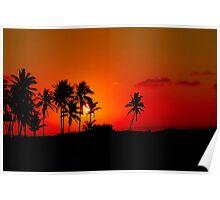 """""""CHERRY SUNSET"""" - Mozambique --  MOSAMBIEKMOSAMBIEK Poster"""