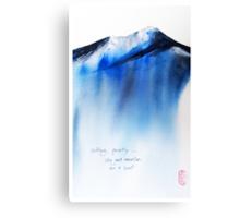 sitting Canvas Print