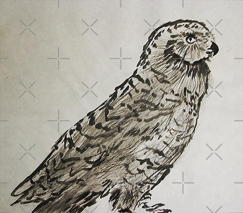 Snow Owl by Ming  Myaskovsky