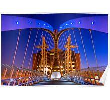 Salford Quays Millennium Bridge - Salford Poster