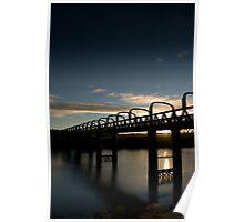 Sunrise through bridge Poster