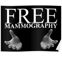Free Mammography - White Poster